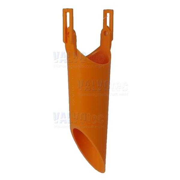 Fallrohr schräg, orange