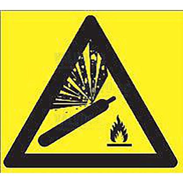 Aufkleber Warnung vor Gasflaschen