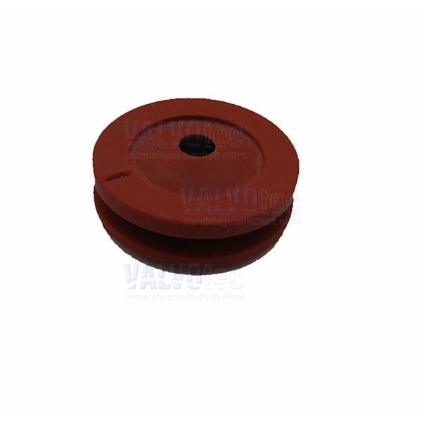 Mixerwellendichtung Ø 4 mm - Silikon rot