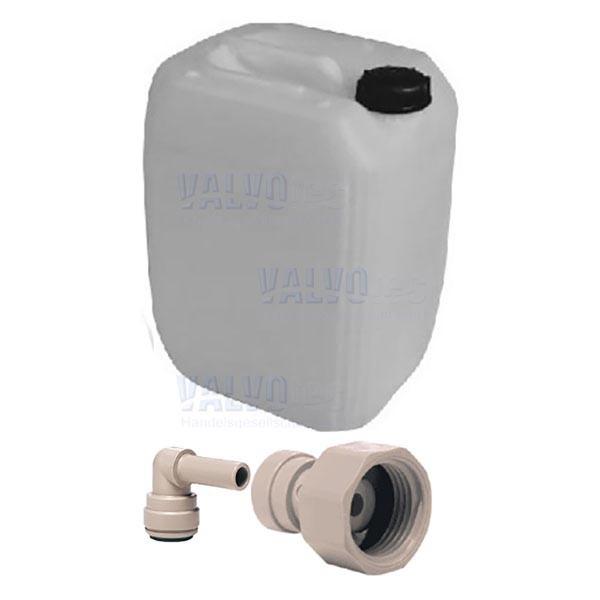 20 Ltr. Wasserbehälter und John Guest Geräteanschluss