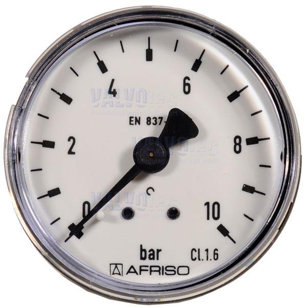 "Manometer, G 1/4"" AG, axial nach hinten"