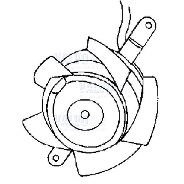 Axiallüftermotor für Bistro