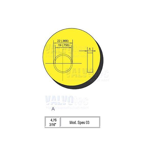 Rielda - Abstandsring - 4,76 mm