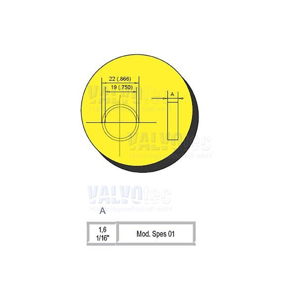 Rielda - Abstandsring - 1,6 mm